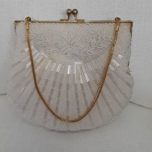 AUTHENTIC Vintage Beaded White Bag